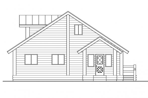 Log Home Floor Plan - Sylvan 30-023 - Rear Elevation