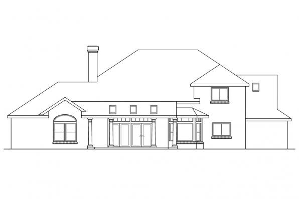 Luxury House Plan - Ainsworth 10-355 - Rear Elevation
