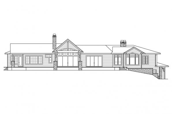 Luxury House Plan - Delfino 31-062 - Rear Elevation