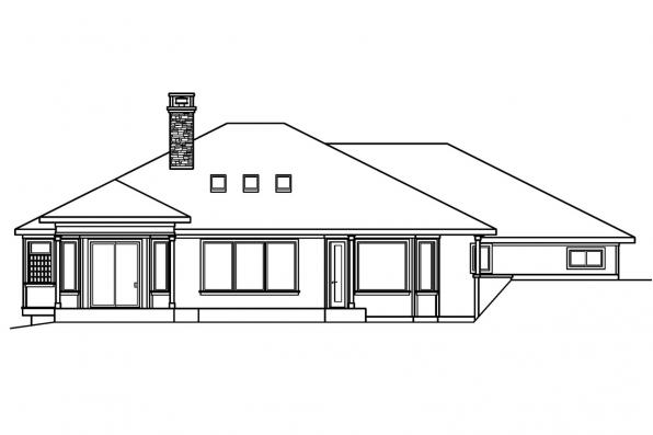 Prairie style house plans elmhurst 30 452 associated for Luxury empty nester house plans