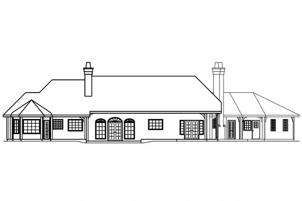 Luxury House Plan - Macon 30-229 - Rear Elevation