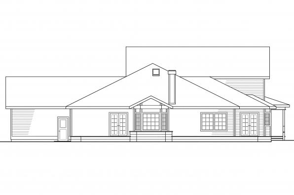 Luxury House Plan - Morgan 10-059 - Rear Elevation