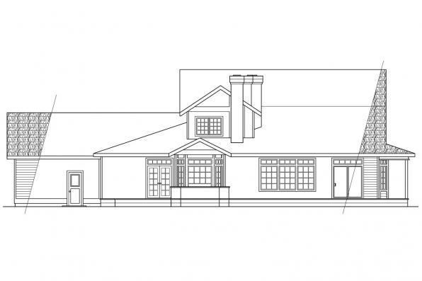 Luxury House Plan - Shelburn 30-035 - Rear Elevation