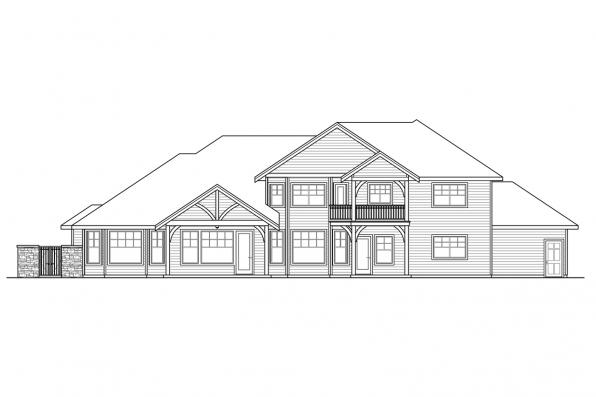 Luxury House Plan - Cedar Creek 30-916 - Rear Elevation