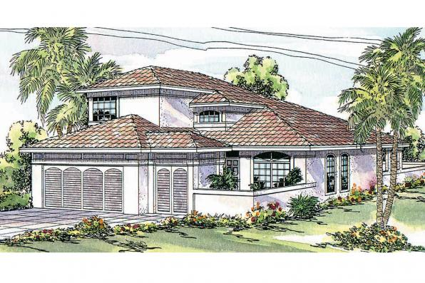 Mediterranean House Plan - Cortez 11-011 - Front Elevation