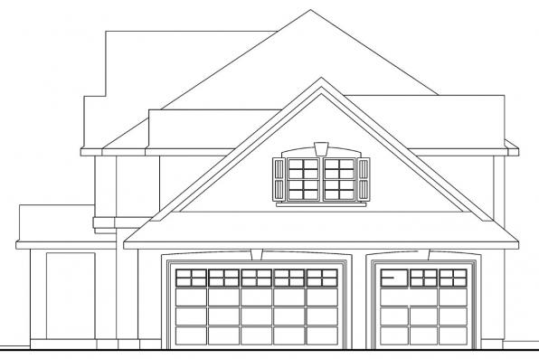 Mediterranean House Plan - Gerabaldi 30-543 - Left Elevation