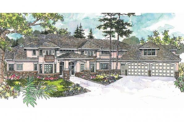 Mediterranean House Plan - Jacksonville 30-563 - Front Elevation
