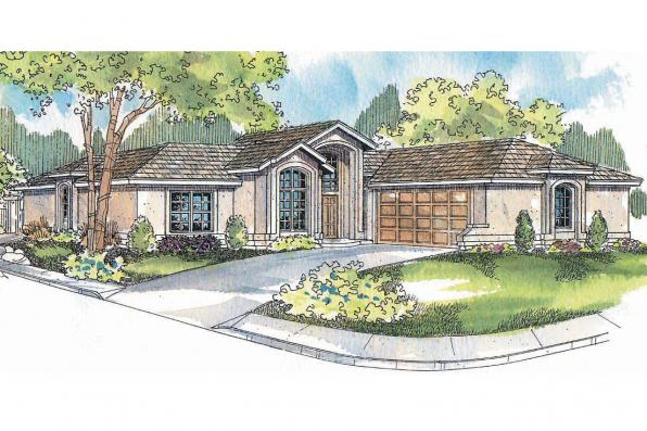 Mediterranean House Plan - Jacobson 30-397 - Front Elevation