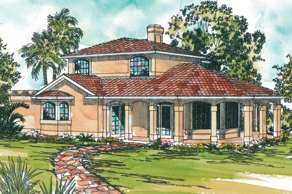 Mediterranean house plans lauderdale 11 037 associated for Mediterranean elevation