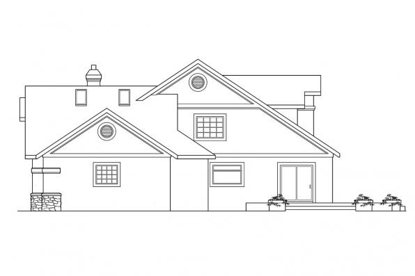 Mediterranean House Plan - Manchester 10-183 - Left Elevation