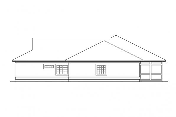 Mediterranean House Plan - Medina 10-188 - Left Elevation