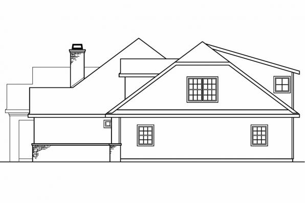 Mediterranean House Plan - Meridian 30-312 - Left Elevation