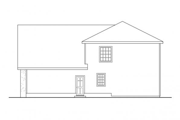 Mediterranean House Plan - Mirabel 30-201 - Left Elevation