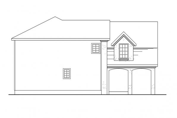 Mediterranean House Plan - Mirabel 30-201 - Right Elevation