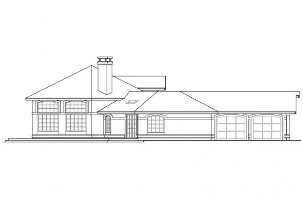 Mediterranean House Plan - Oakland 10-037 - Right Elevation