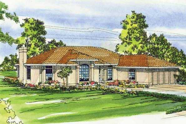 Mediterranean house plans plainview 11 079 associated for Mediterranean elevation