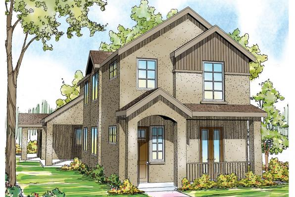 Mediterranean House Plan - Rimrock 30-817 - Front Elevation