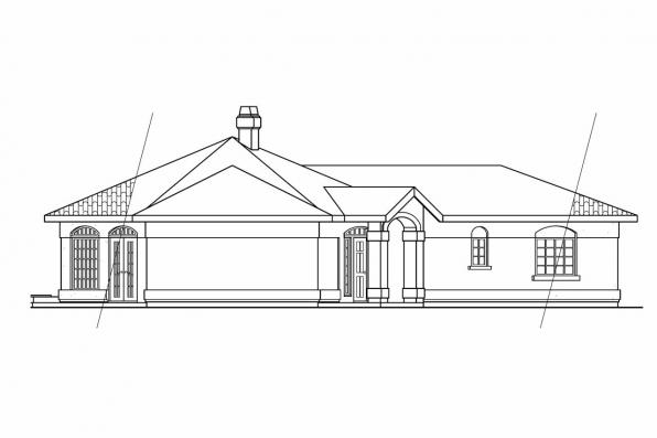 Mediterranean House Plan - San Pedro 11-049 - Right Elevation