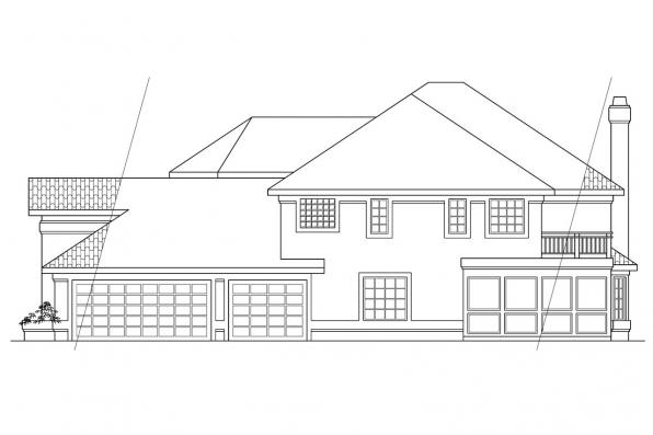 Mediterranean House Plan - Stanfield 11-084 - Left Elevation