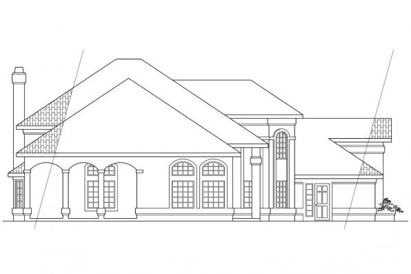 Mediterranean House Plan - Stanfield 11-084 - Right Elevation
