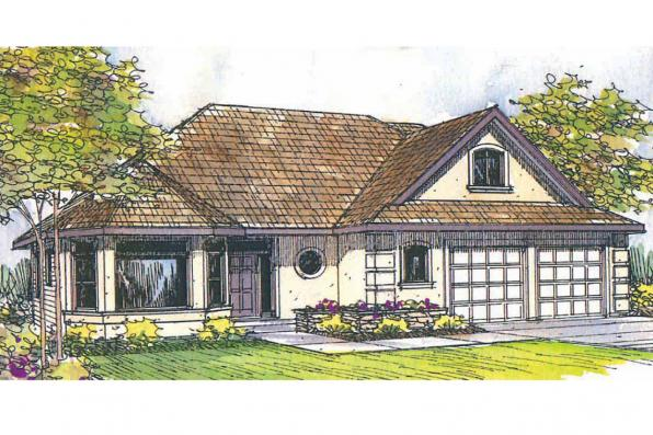 Mediterranean House Plan - Strasbourg 30-146 - Front Elevation