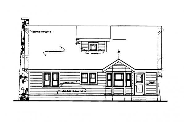 Narrow Lot House Plan - Alhambra 41-001 - Rear Elevation