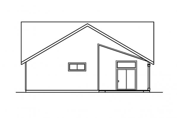 Narrow Lot House Plan - Bergstrom 30-206 - Rear Elevation