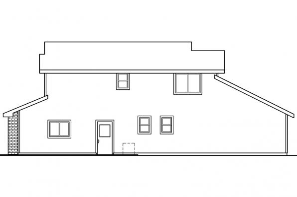 Narrow Lot House Plan - Blanchard 30-550 - Left Elevation