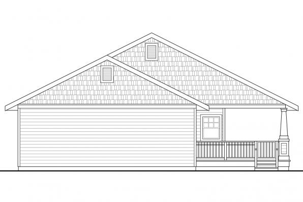 Narrow Lot House Plan - Cadence 30-807 - Rear Elevation