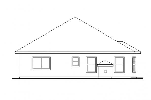 Narrow Lot House Plan - Holly 30-115 - Rear Elevation