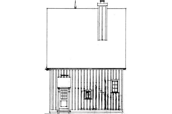 Narrow Lot House Plan - Isabelle 42-009 - Rear Elevation