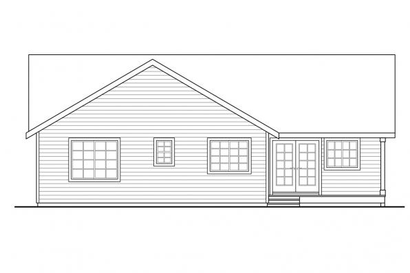 Narrow Lot House Plan - Kenton 10-587 - Rear Elevation