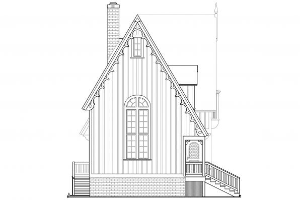 Narrow Lot House Plan - Langston 42-027 - Left Elevation