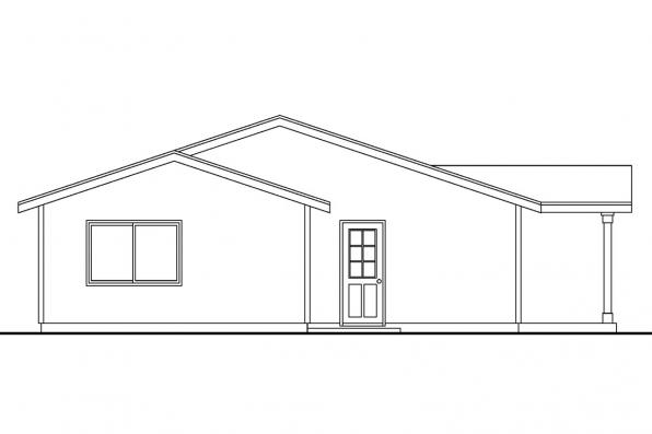 Narrow Lot House Plan - Lindley 30-546 - Front Elevation