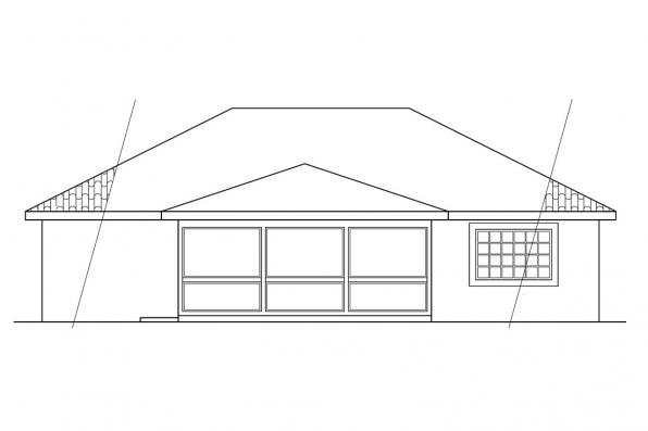 Narrow Lot House Plan - Navarro 11-061 - Rear Elevation