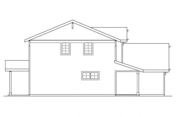Narrow Lot House Plan - Paisley 30-852 - Right Elevation