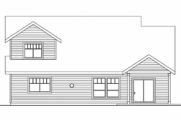 Narrow Lot House Plan - Sturnbridge 30-663 - Rear Elevation