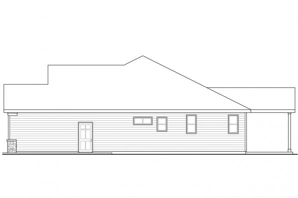 One Story House Plan - Dahlia 31-041 - Left Elevation