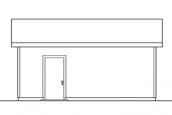 Outbuilding Plan 20-041 - Left Elevation