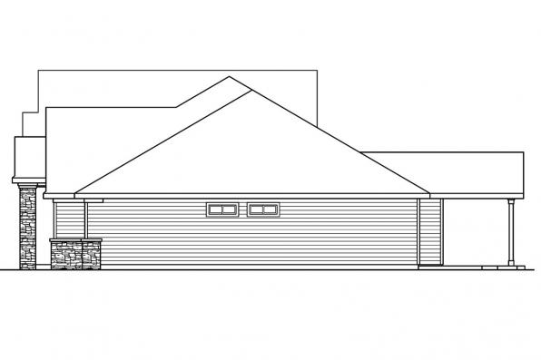 Ranch House Plan - Abbington 30-582 - Left Elevation