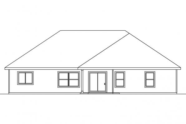 Ranch House Plan - Adrian 30-511 - Rear Elevation