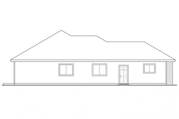 Ranch House Plan - Alden 30-904 - Right Elevation