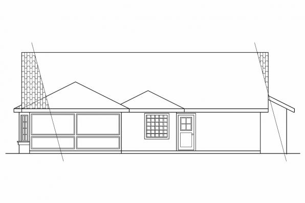 Ranch House Plan - Alessandro 11-077 - Rear Elevation