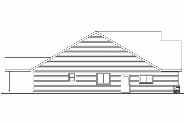 Ranch House Plan - Allenspark 30-700 - Right Elevation