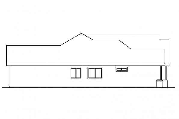 Ranch House Plan - Anderson 30-467 - Right Elevation