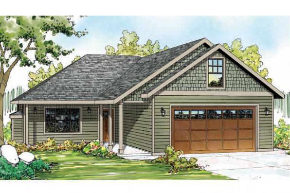 Ranch House Plan - Andover 30-824 - Front Elevation