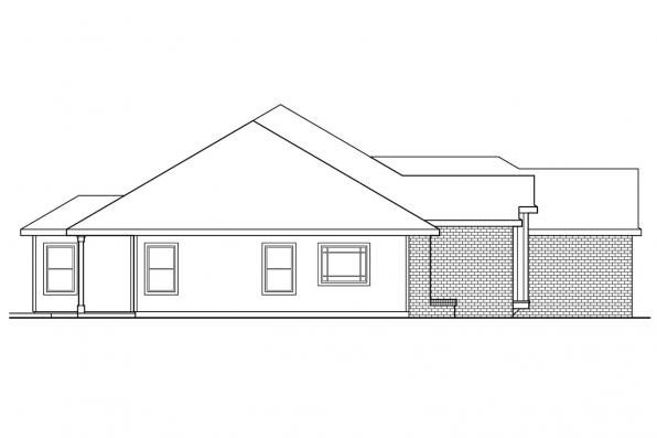 Ranch House Plan - Anniston 10-304 - Right Elevation