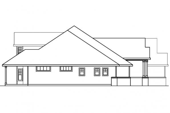 Ranch House Plan - Asbury 30-237 - Right Elevation