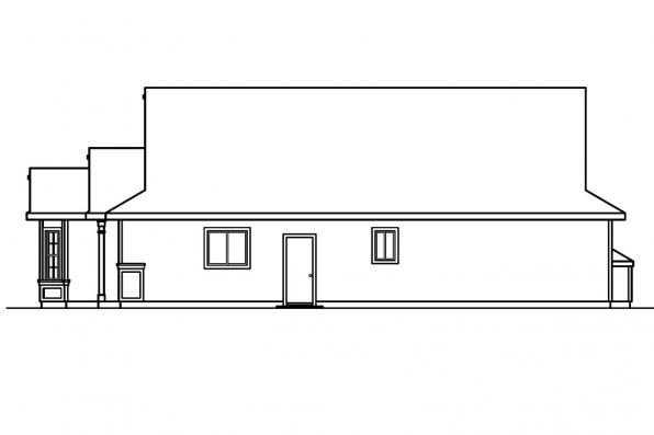 Ranch House Plan - Ashland 30-191 - Left Elevation