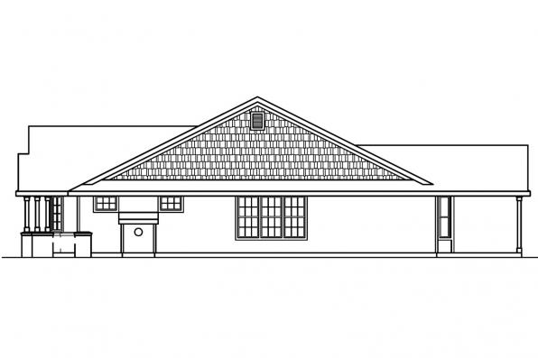 Ranch House Plan - Ashley 30-264 - Left Elevation